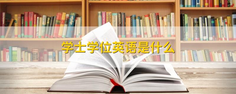 学士学位英语是什么